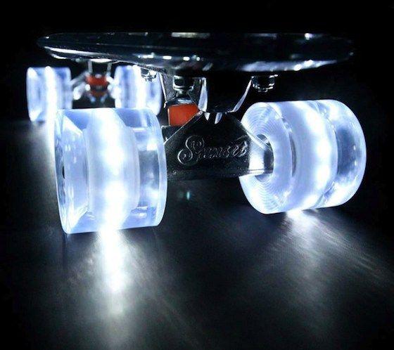 Float down the street on all-white Flare LED e491a060e3a
