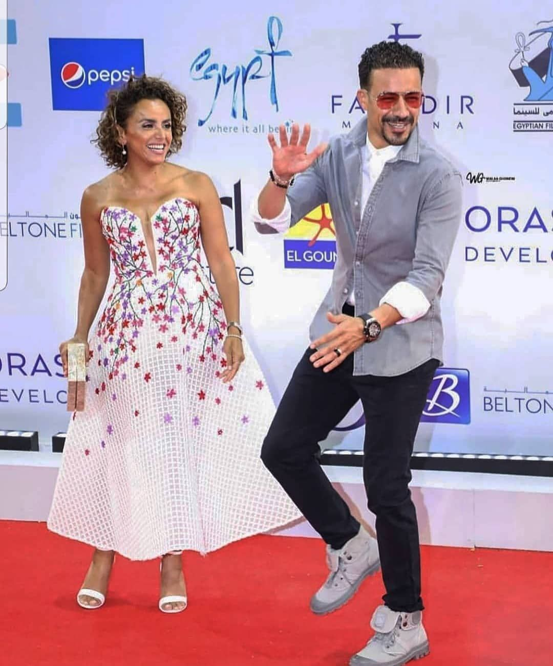 Soha Murad On Instagram Gff S Fun Couple At The Screening Of When We Are Born At Elgounafilmfestivalofficial And O Fashion Gowns Celebrity Style Fun Couple