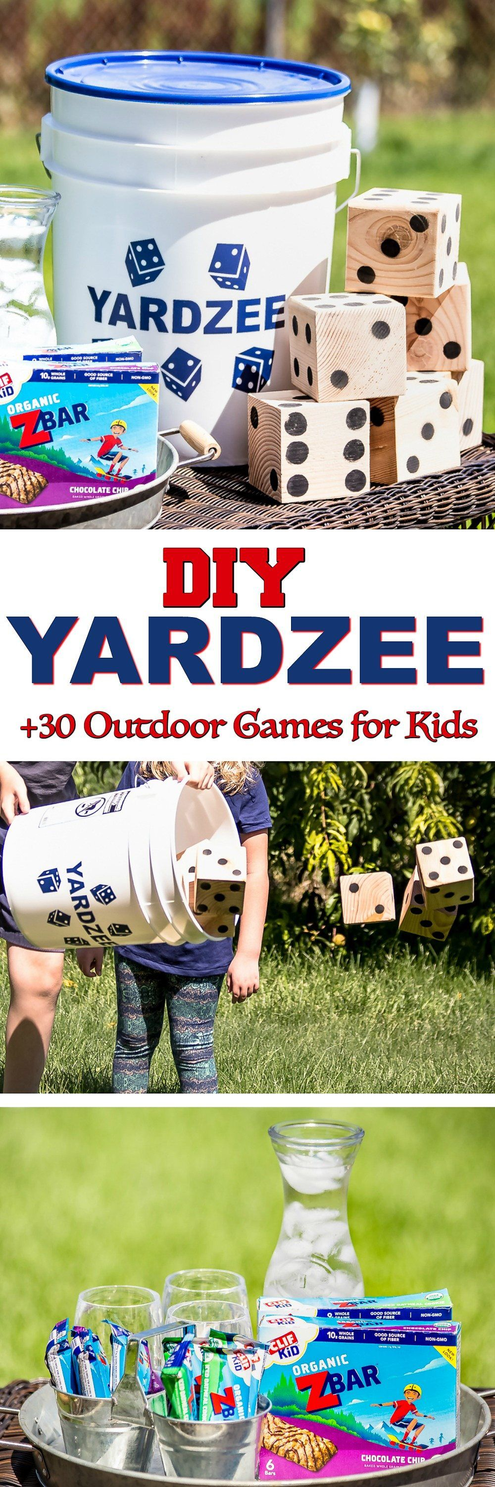 Classic Outdoor Games for Kids DIY Yardzee tutorial