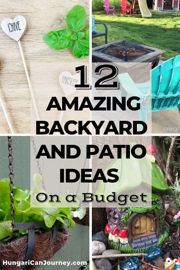 12 Amazing Backyard and Patio Ideas on a Budget | Backyard ... on Patio Decor Ideas Cheap id=43090