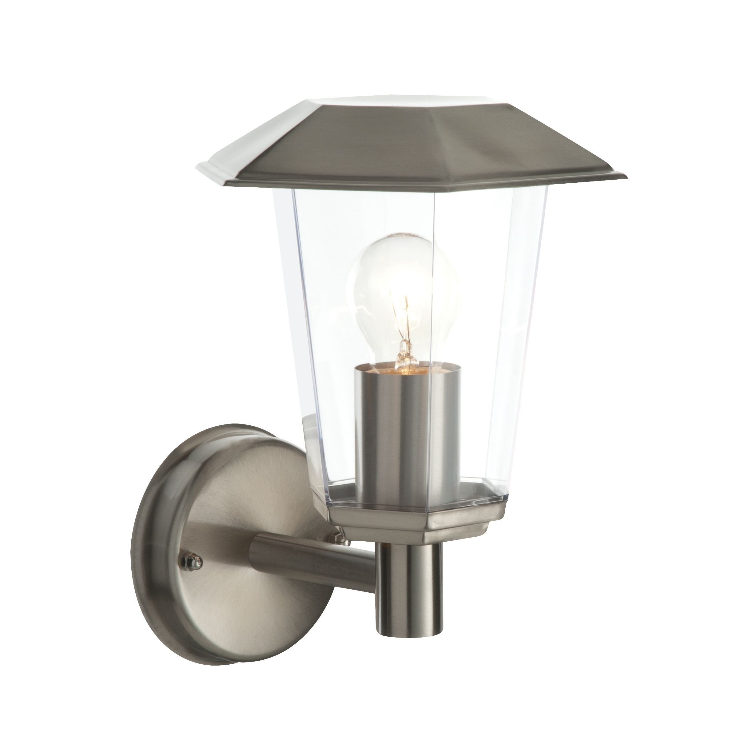 Masterlite Seaton Stainless Steel External Wall Light - B&Q for all your  home and garden supplies and advice on all the latest DIY trends