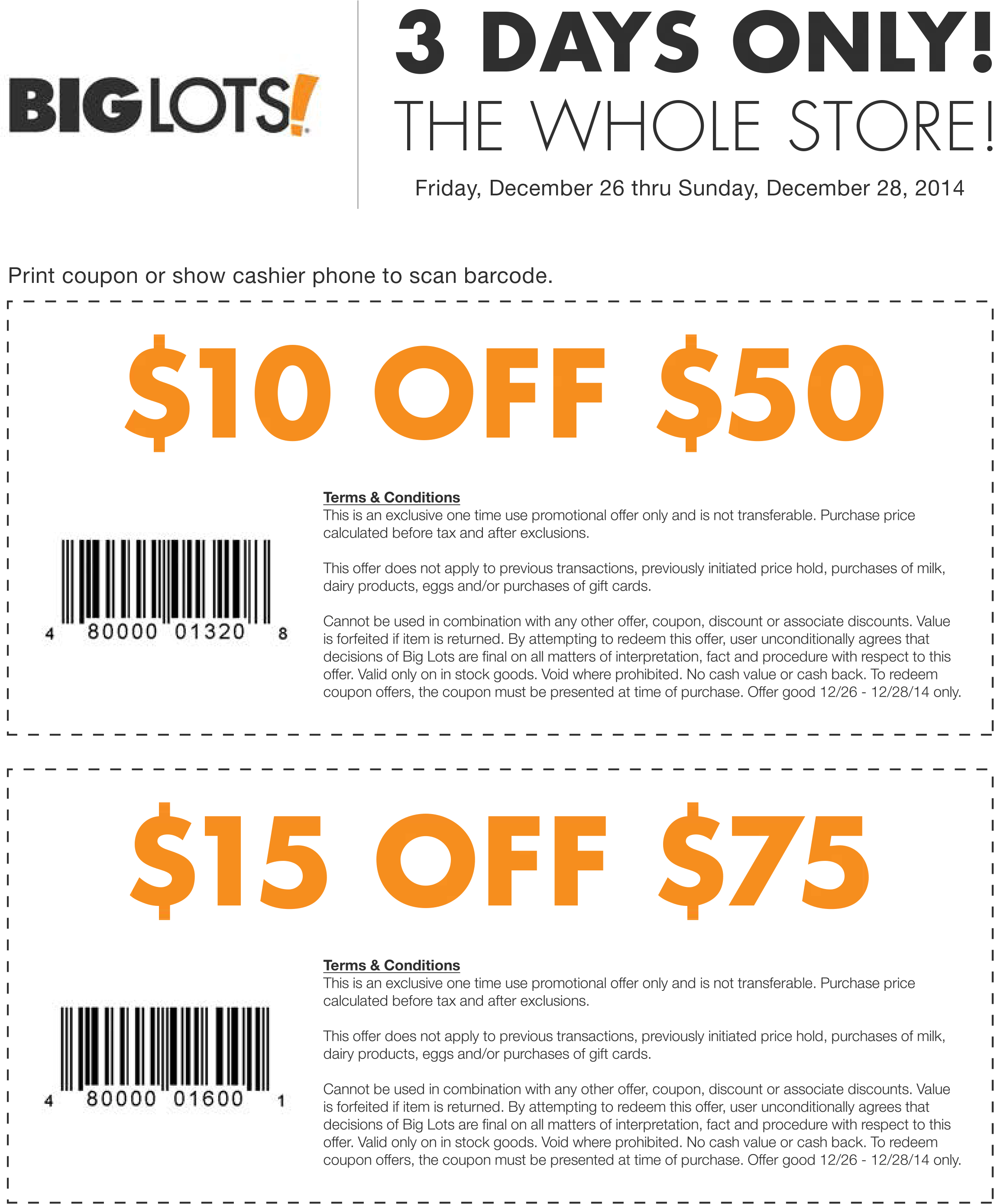 big lots coupon $10 off $50