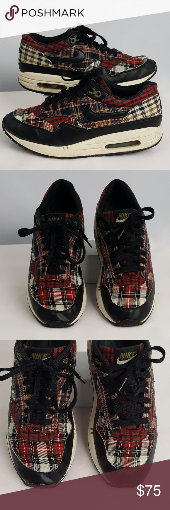 Nike 2008 Air Max 1 Tartan Plaid Size 8.5 Sneaker Heads
