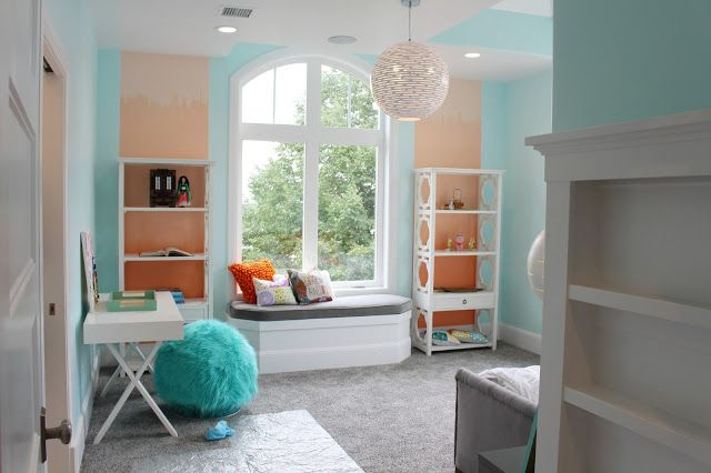 Walls Barely Teal By Benjamin Moore Ombre Peachy Keen Springtime Peach And Whispering