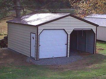Best Carport Central 22X21X9 Vertical Garage Metal Garages 640 x 480