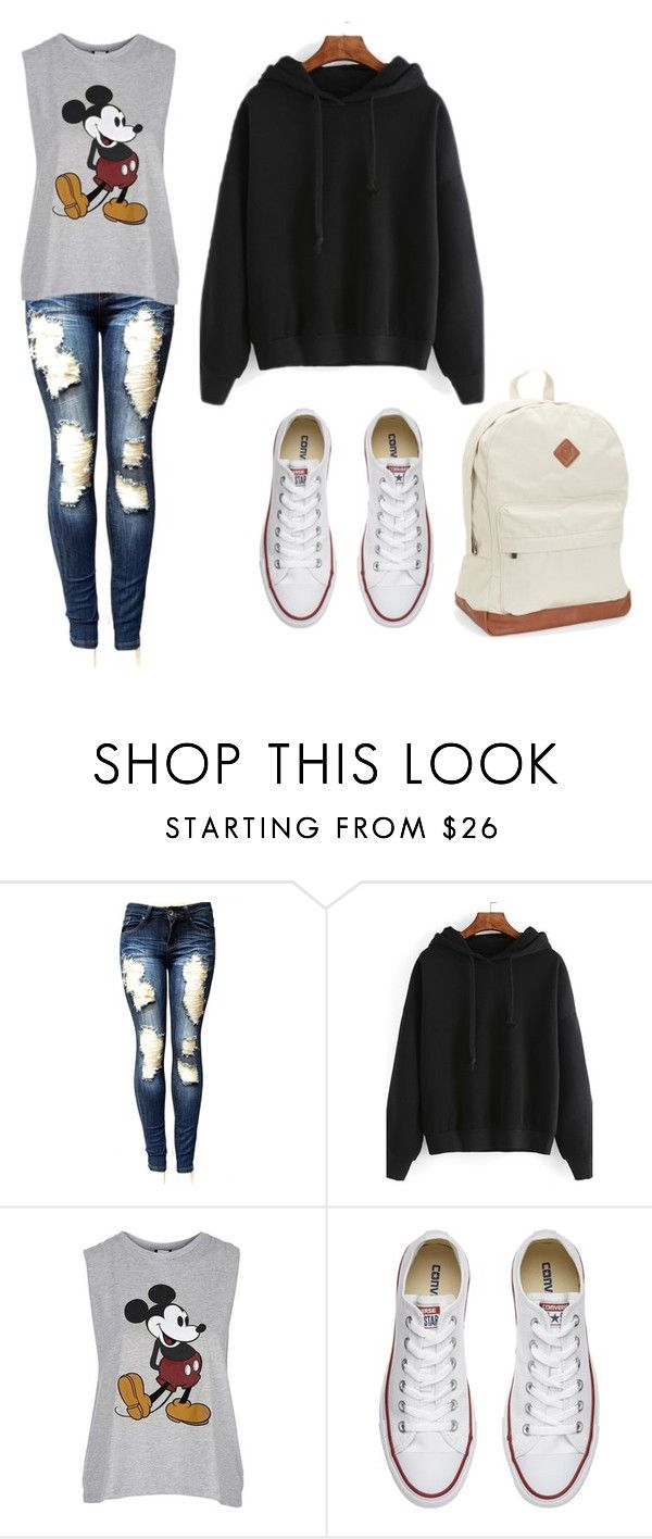 """Look basic school"" by kekeu-braz on Polyvore featuring Topshop, Converse e Aéropostale"
