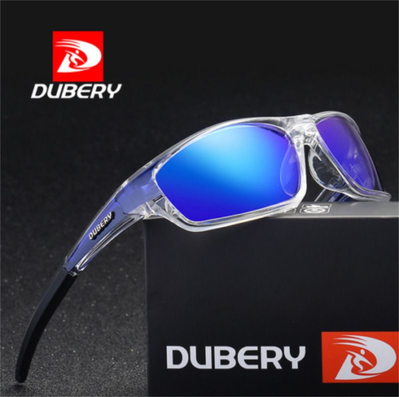 DUBERY Men/'s Polarized Sport Sunglasses Outdoor Driving Fishing Square Glasses