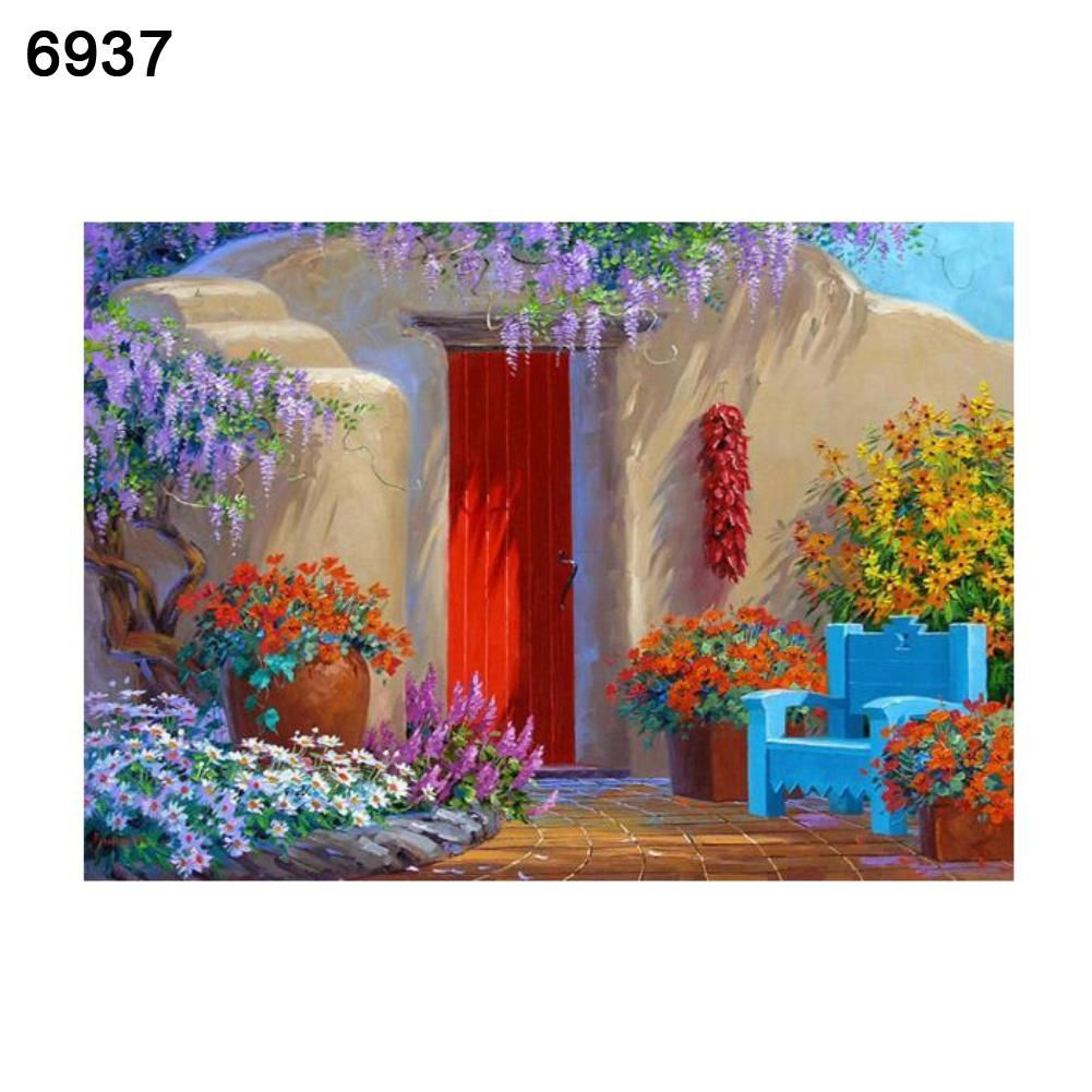 Photo of 5D Flower DIY Resin Diamond Painting Cross Stitch Home Wall Decoration Gift – as the picture k