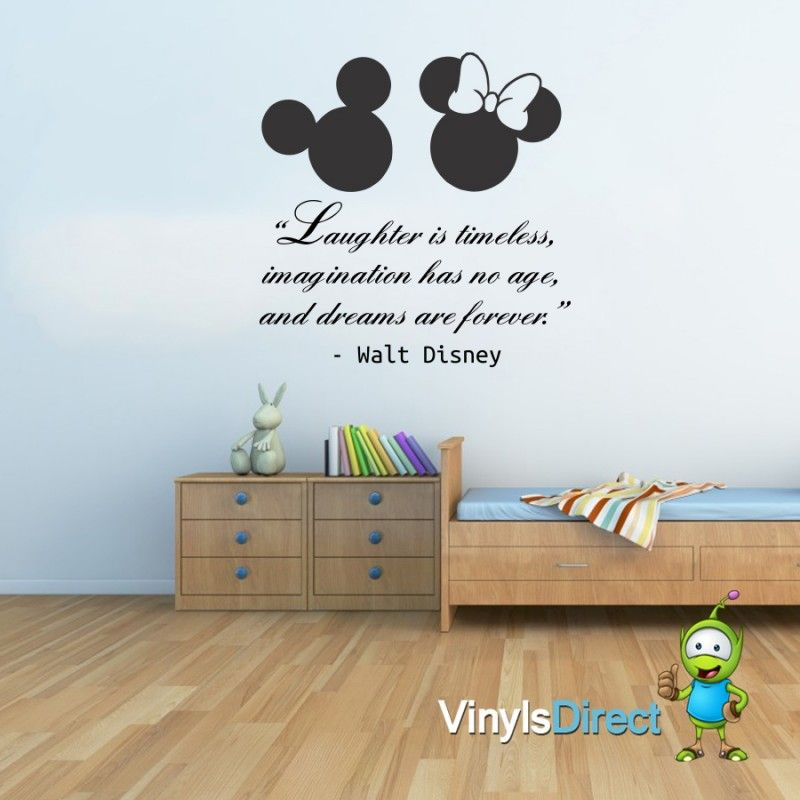 Laughter Is Timeless Disney Quote Wall Sticker Baby Room
