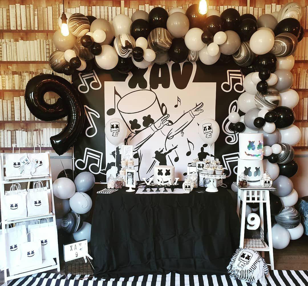 Shimmer Party Planners En Instagram An Amazing Dj Marshmello Themed Party For Xav Djmarshme Bday Party Theme Kids Party Decorations Marshmello Party Ideas