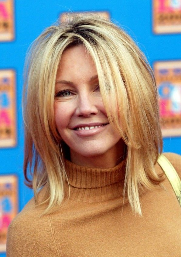 Celebrity Celebritys Heather Locklear 2012 Blonde Hairstyles