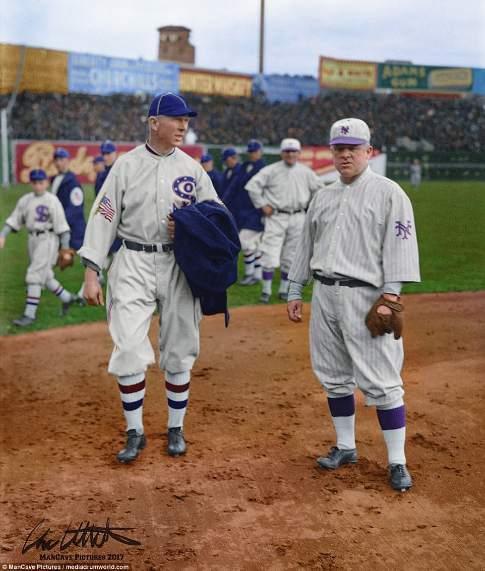 Colorized Images Of The 1917 Chicago White Sox World Series Team Mlb Uniforms Sports Team Uniforms Baseball