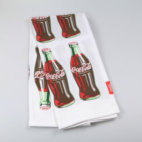 Coca Cola   Bottle Rocket Dish Towel At Retro Planet.com