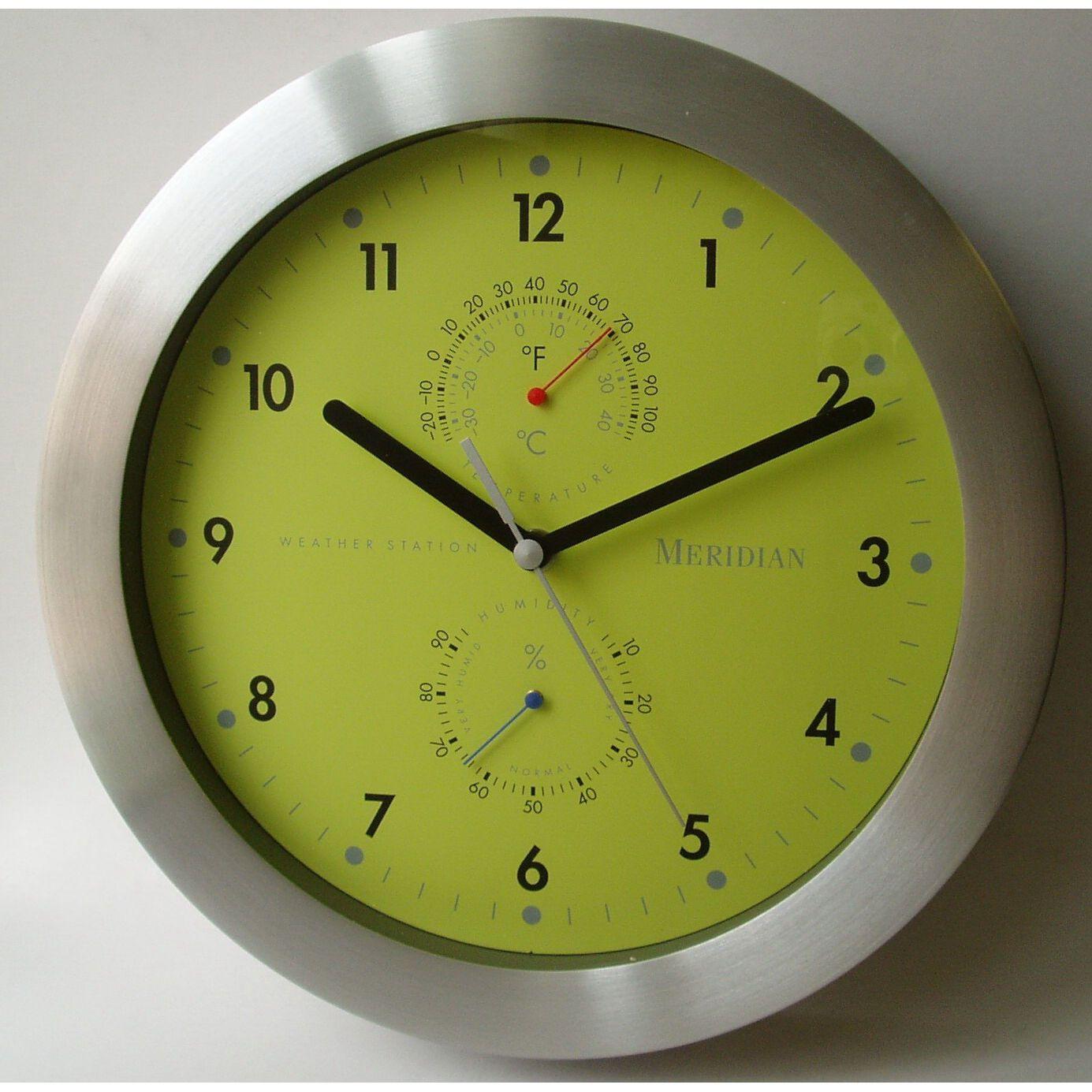 Bai Design Weather Master Weather Station Wall Clock Modern Wall Clock Clock