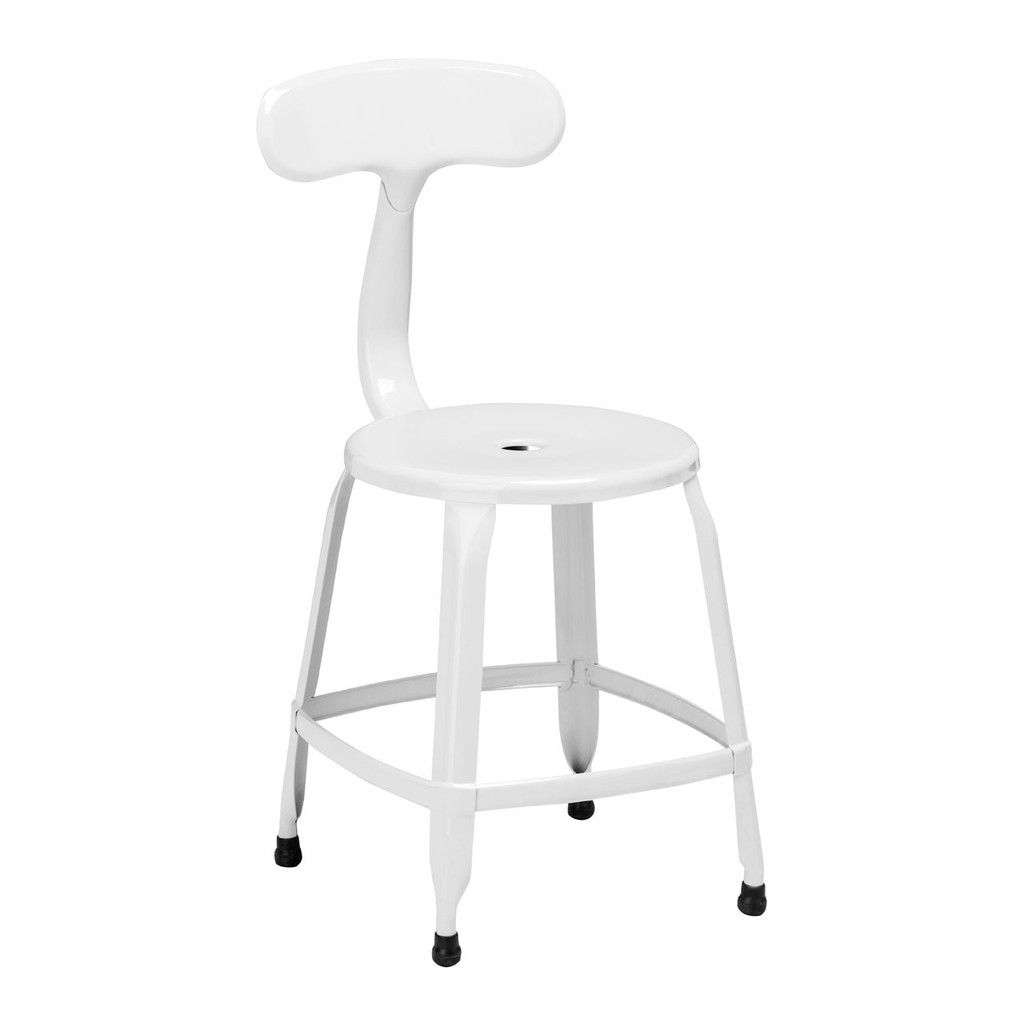 Superieur Disc Chair, White Powder Coated Metal
