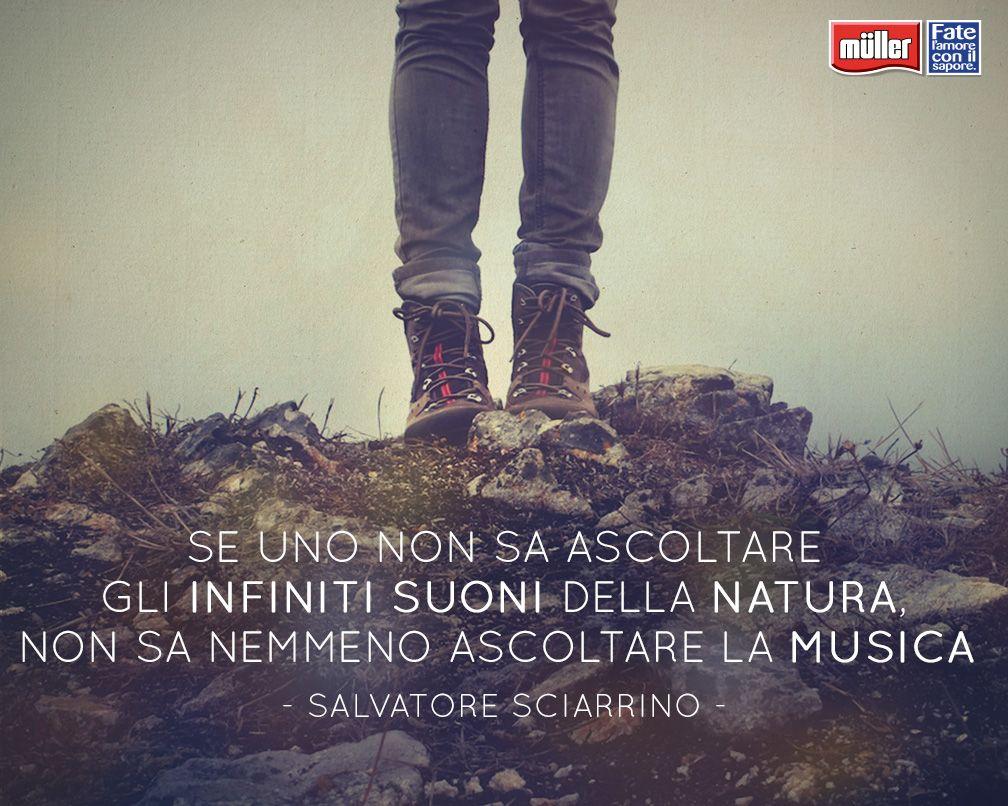 Se uno non sa ascoltare gli infiniti suoni della natura, non sa nemmeno ascoltare la musica. - Salvatore Sciarrino