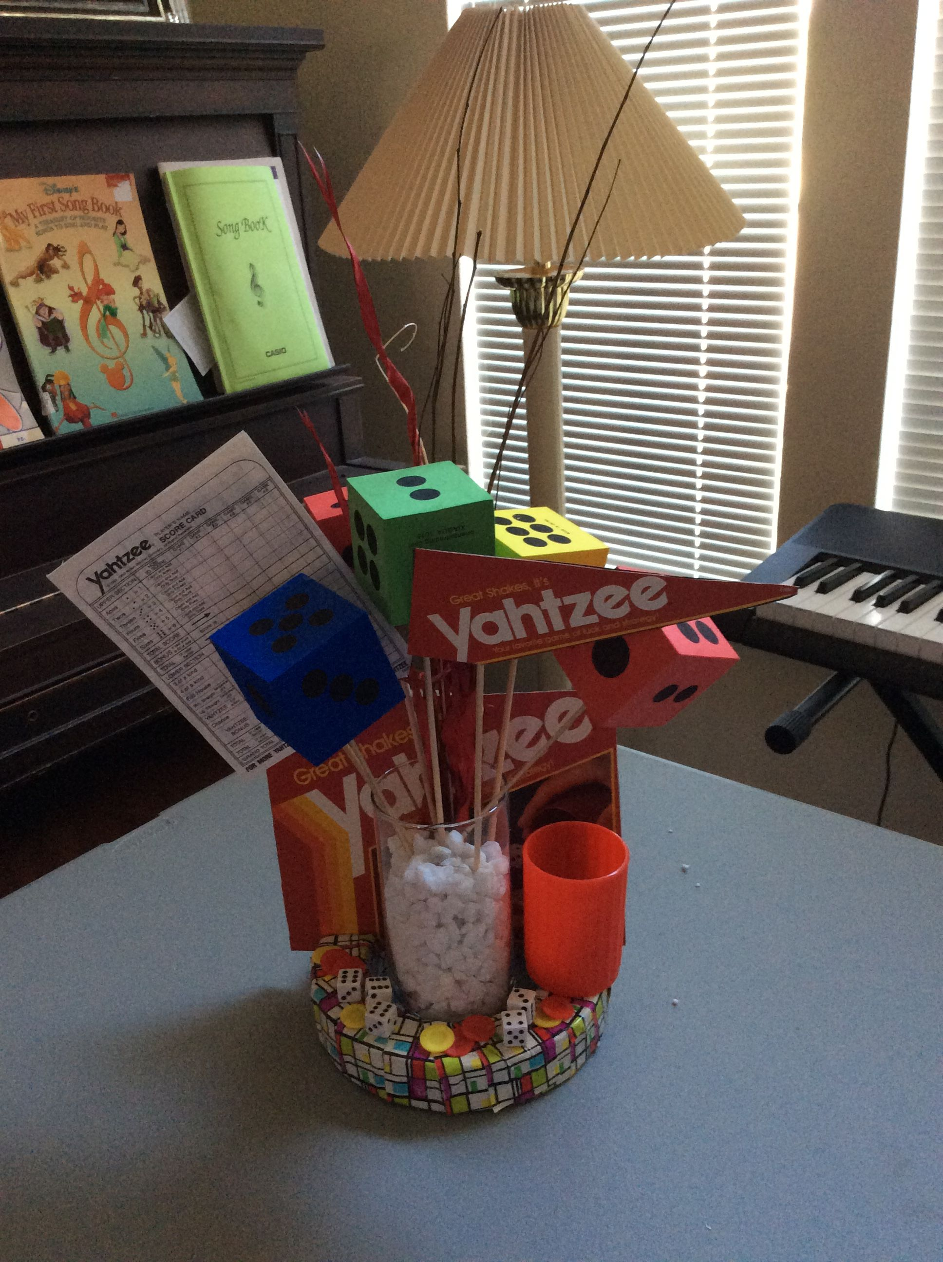 Pin By Liz Iozzo On Game Centerpieces Game Night Decorations Game Night Parties Board Game Themes
