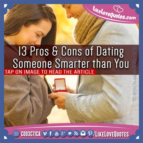 Dating someone much smarter than you