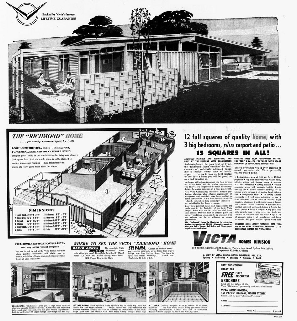 Victa Homes Richmond Retro Beach House House Plans With Pictures Vintage House Plans