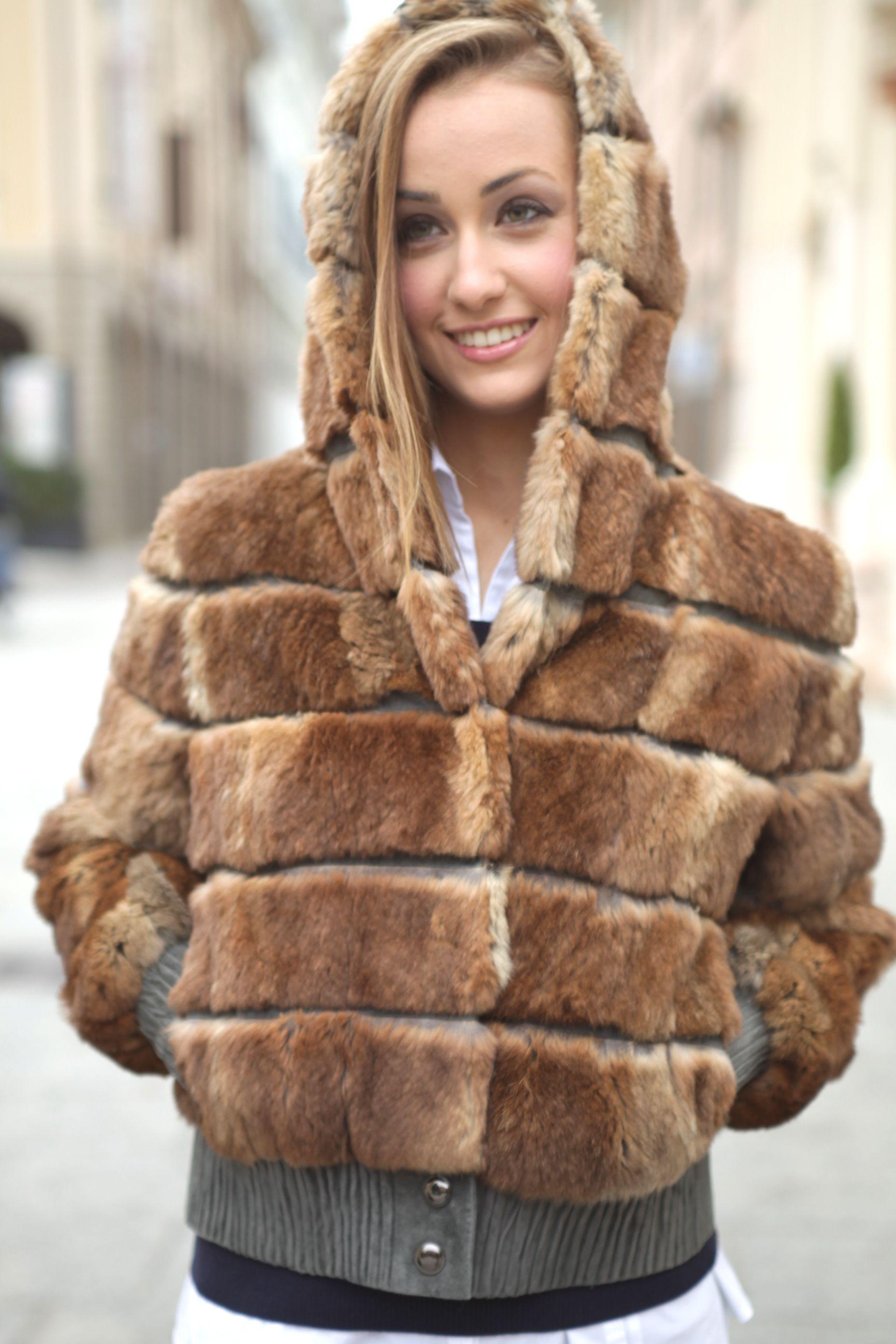 Yellow Rabbit Jacket P Furs Schierafrancesca
