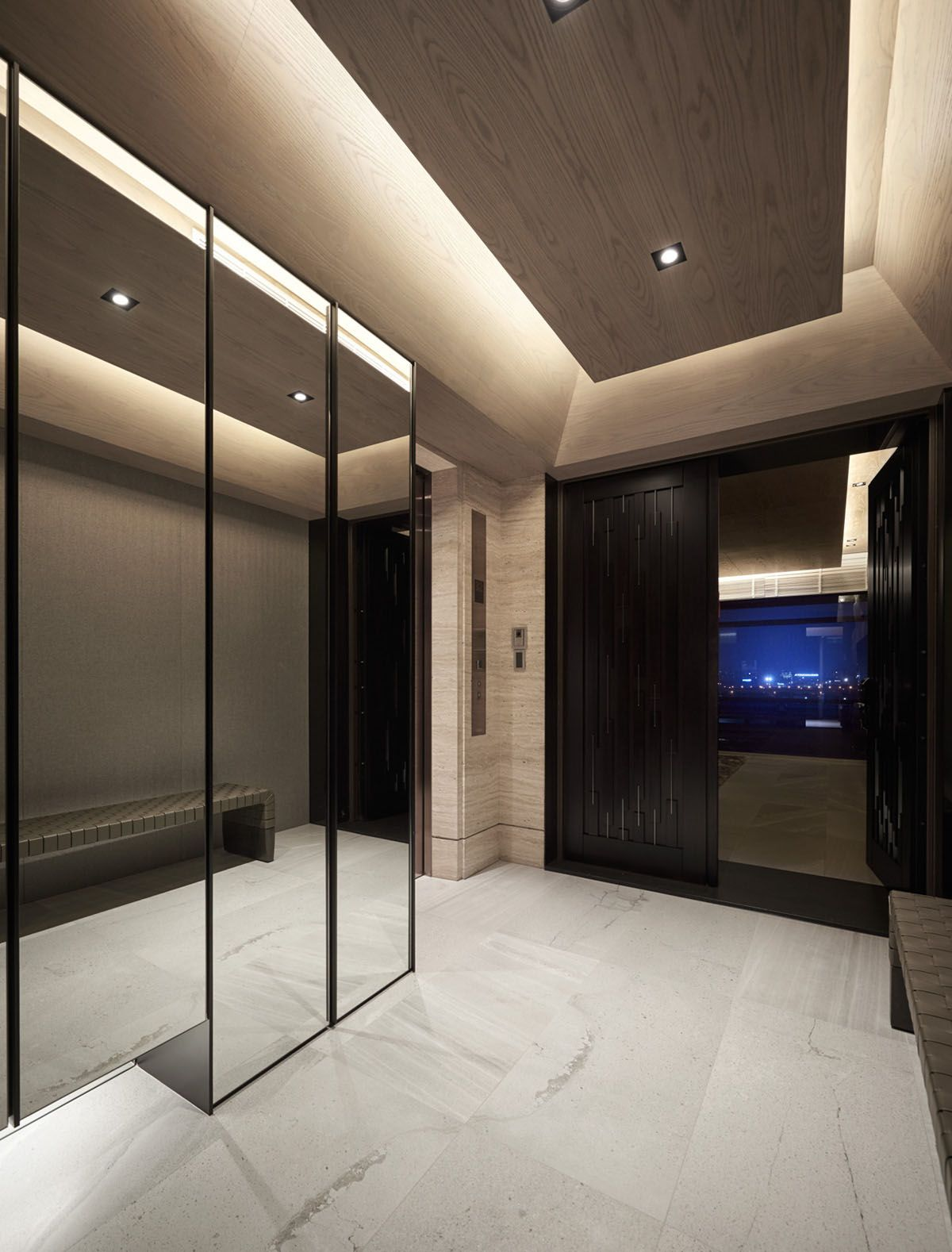 Black Acrylic Glass And Stone Form This Dark And Sophisticated Apartment Interior Apartment