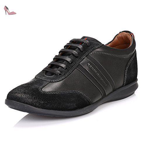 Hilfiger Denim Textile Sneaker, Sneakers Basses Homme, Noir (Black 990), 42 EUTommy Jeans