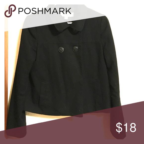 Black pea coat Great condition. Minimally worn! Merona Jackets & Coats Pea Coats