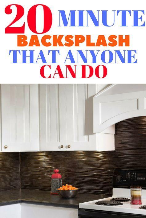DIY Kitchen Backsplash Idea For Renters | Diy backsplash ...