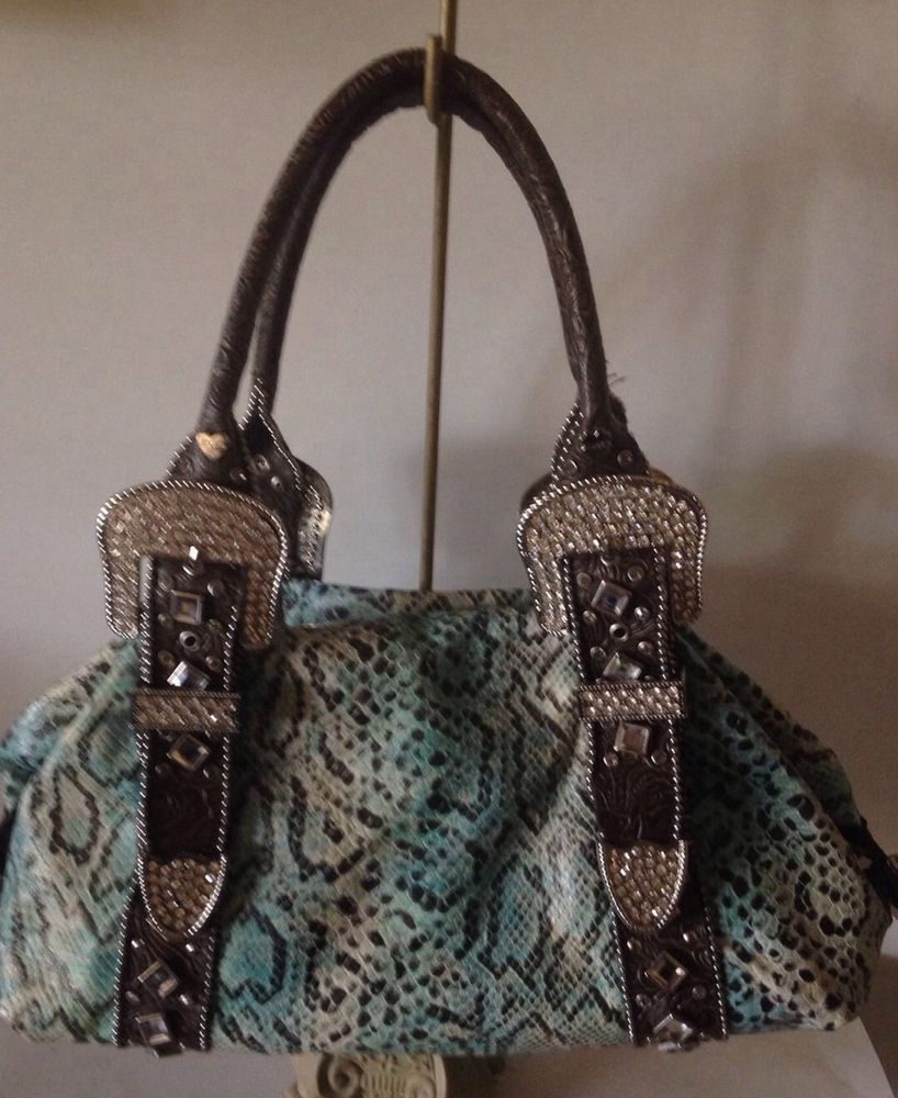 Charm And Luck Rare Large Purse Turq
