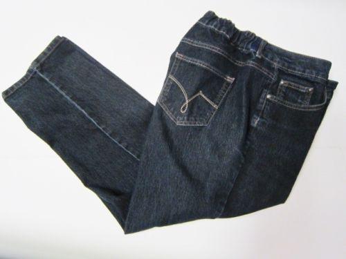 4d0e4895cfb76 Just-My-Size-JMS-Classic-Stretch-Jeans-20W-Short-Dark-Blue-Denim -Waist-Altered