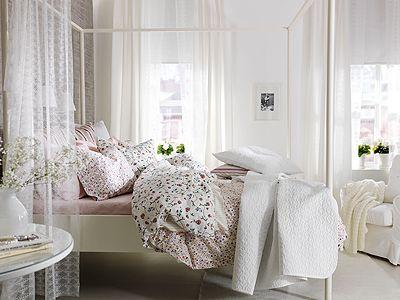 Schlafzimmer im Landhaus Stil Schlafzimmer in frischem Weiß - schlafzimmer wei ikea