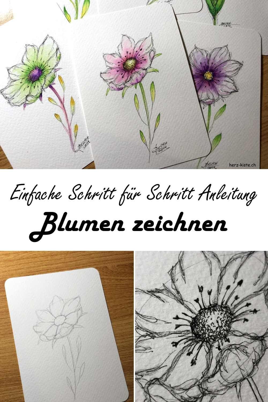 Blumen zeichnen einfach gemacht!