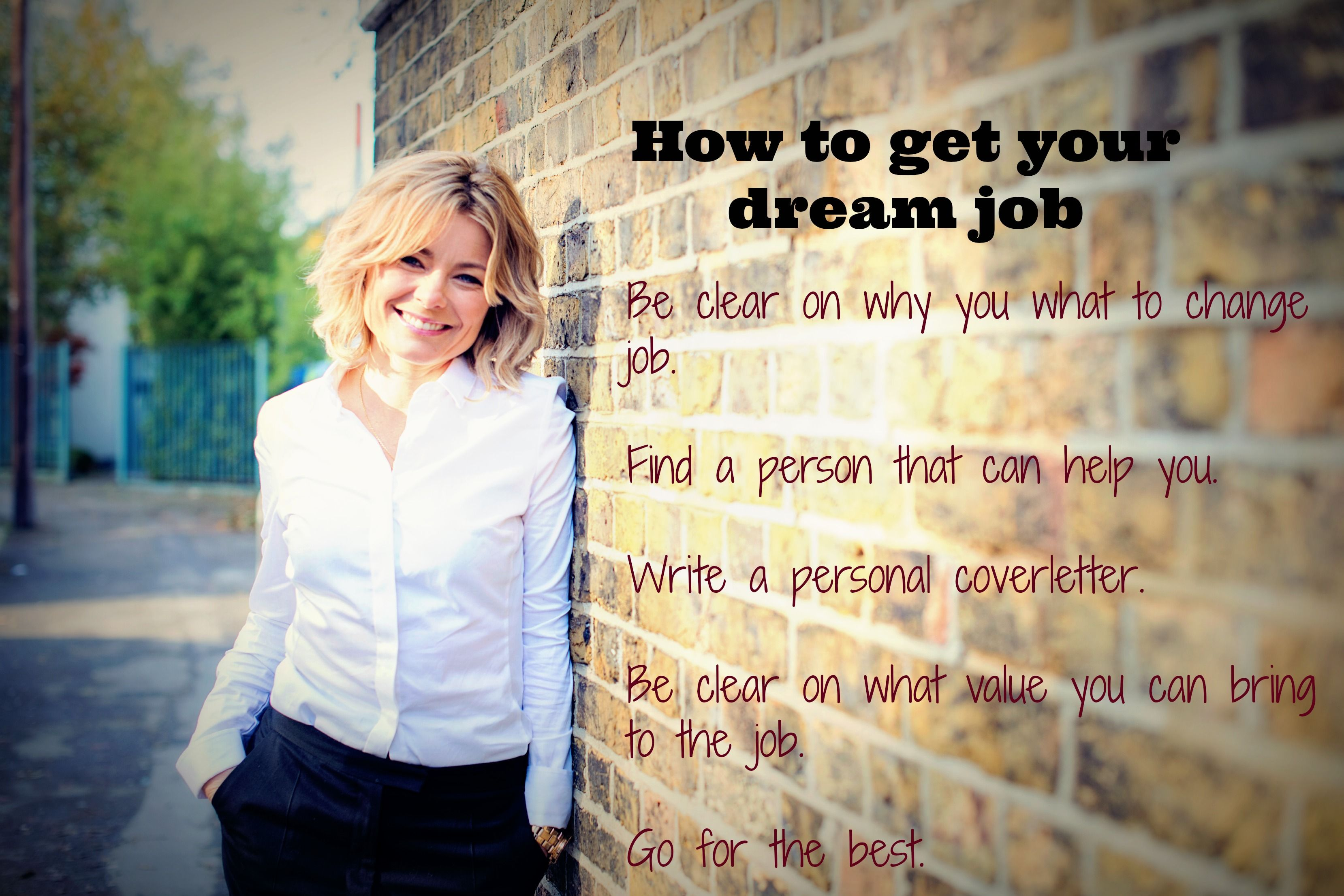 how to get your dream career