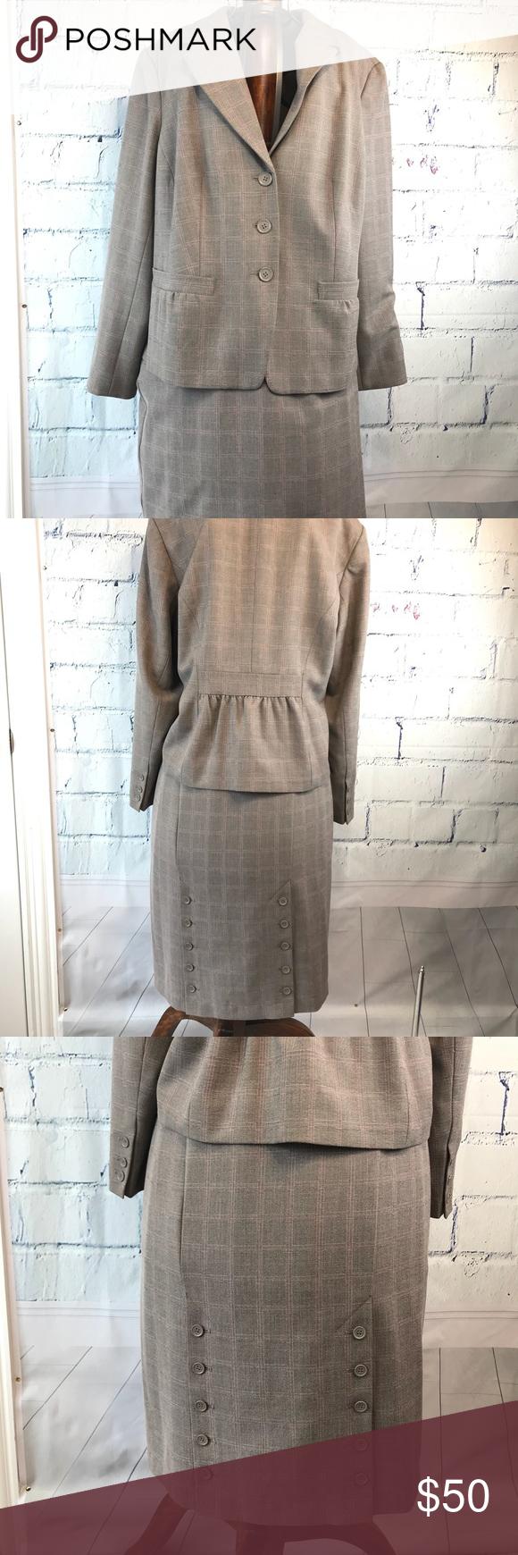 c8465cb9c1e Lane Bryant 2-Piece Blazer 22 and Skirt 24 Suit Lane Bryant Women s Light  Gray