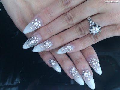 Uñas Decoradas Con Piedras De Cristal Uñas Pinterest Nails Y