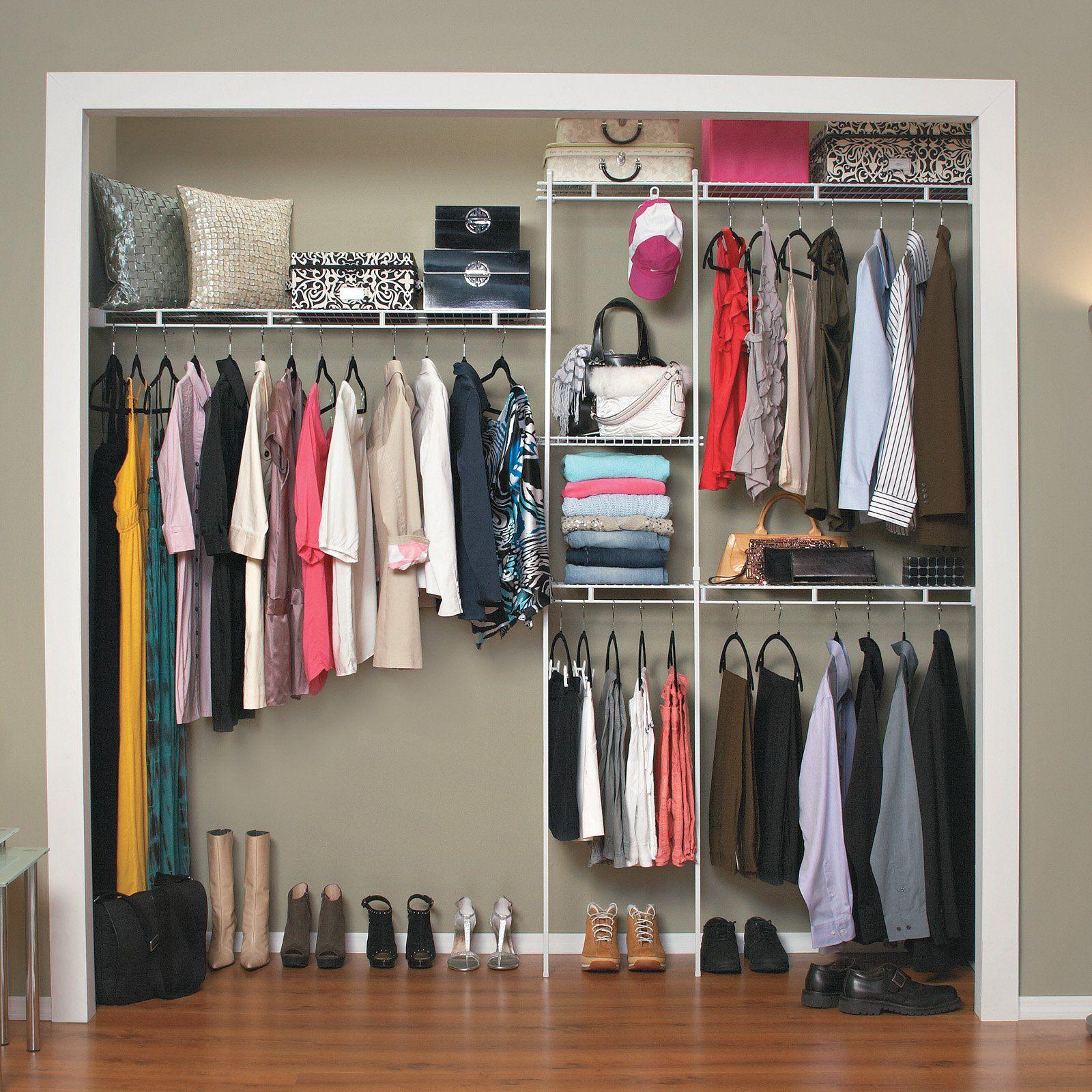Closetmaid 5 8 Ft Closet Organizer Closet Organizer Kits