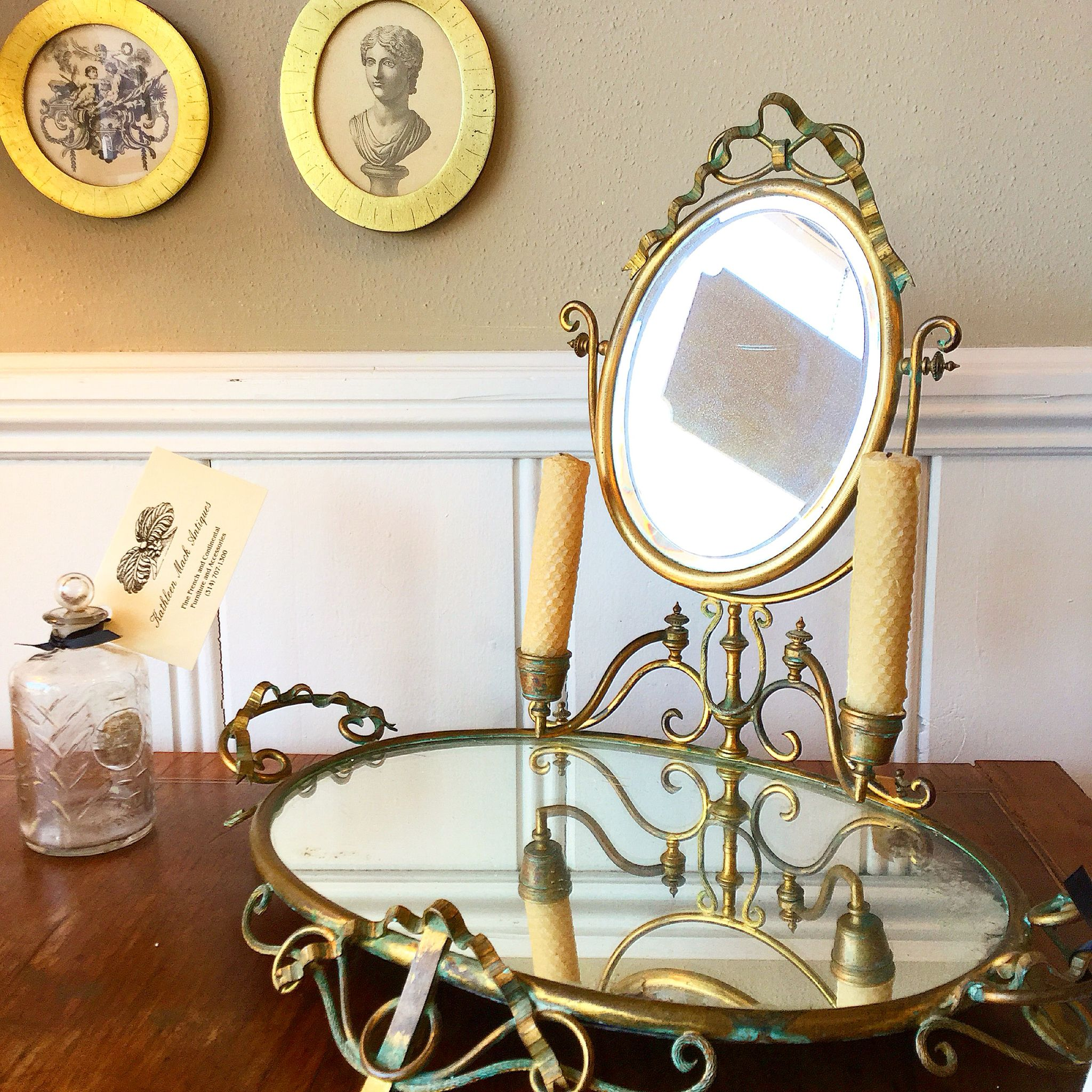 Charming Late 19thc Mirror On Stand For Sale At Kathleen