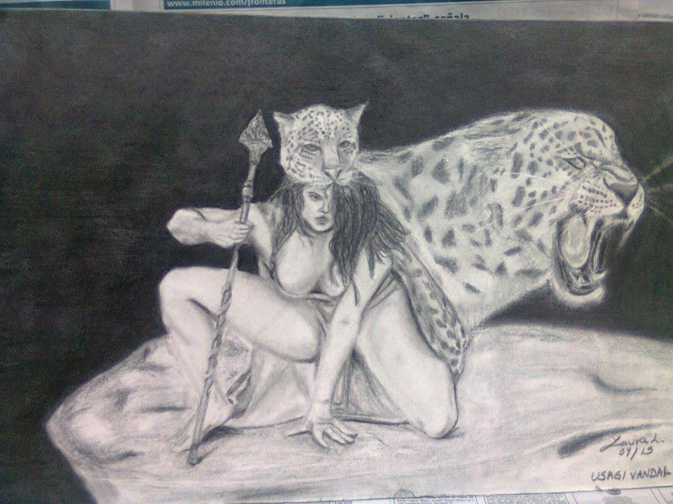 jaguar, warrior, aztec, woman, mexico