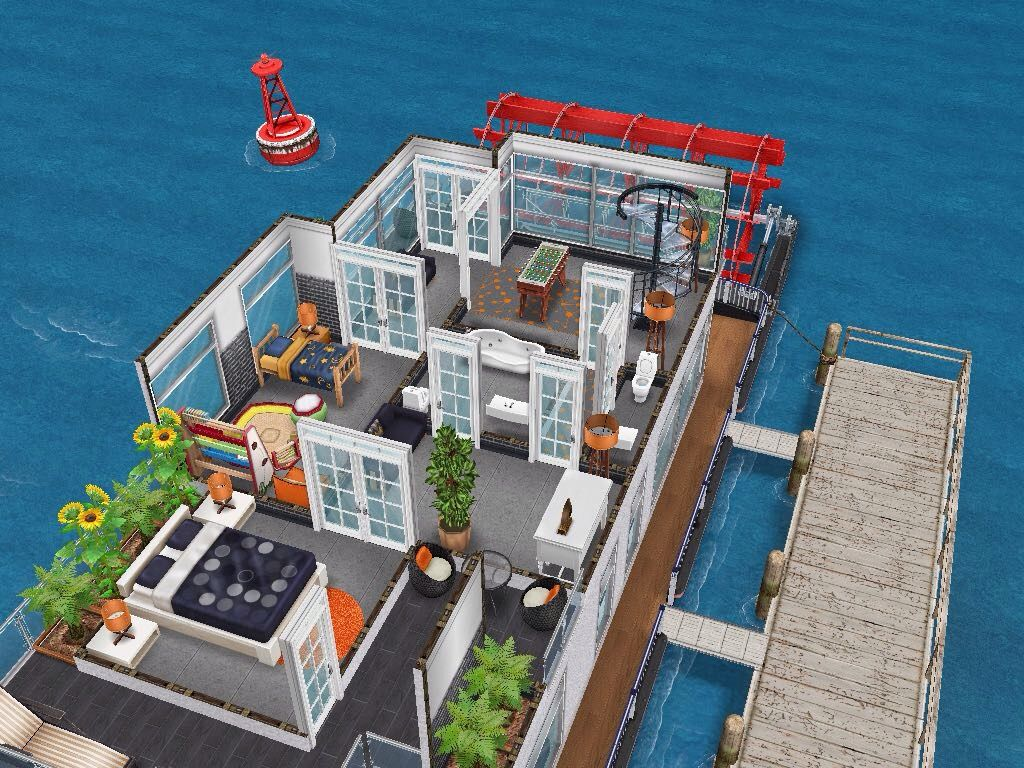 House 91 Luxury House Boat Level 2 Sims Simsfreeplay Simshousedesign Sims Freeplay Houses Sims House Sims House Plans