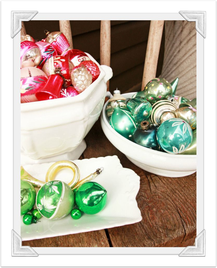 vintage Christmas ornaments at qisforquandie.com
