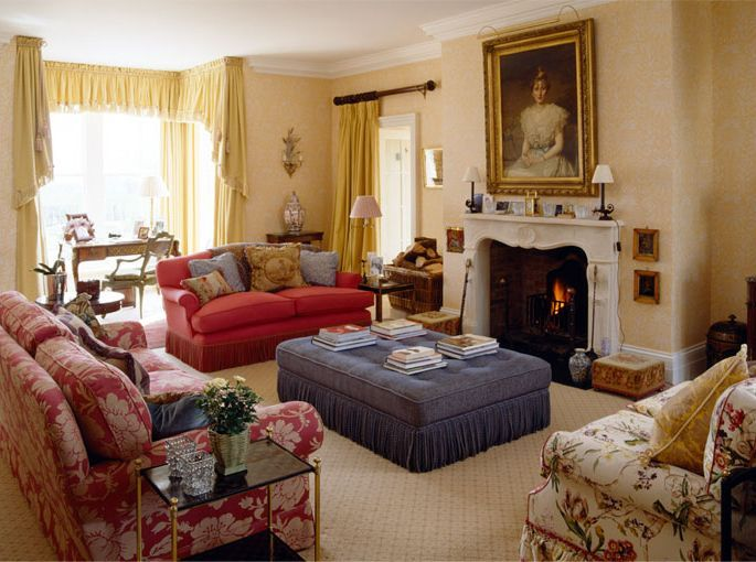English country house interiors english manor for Classic american decorating style