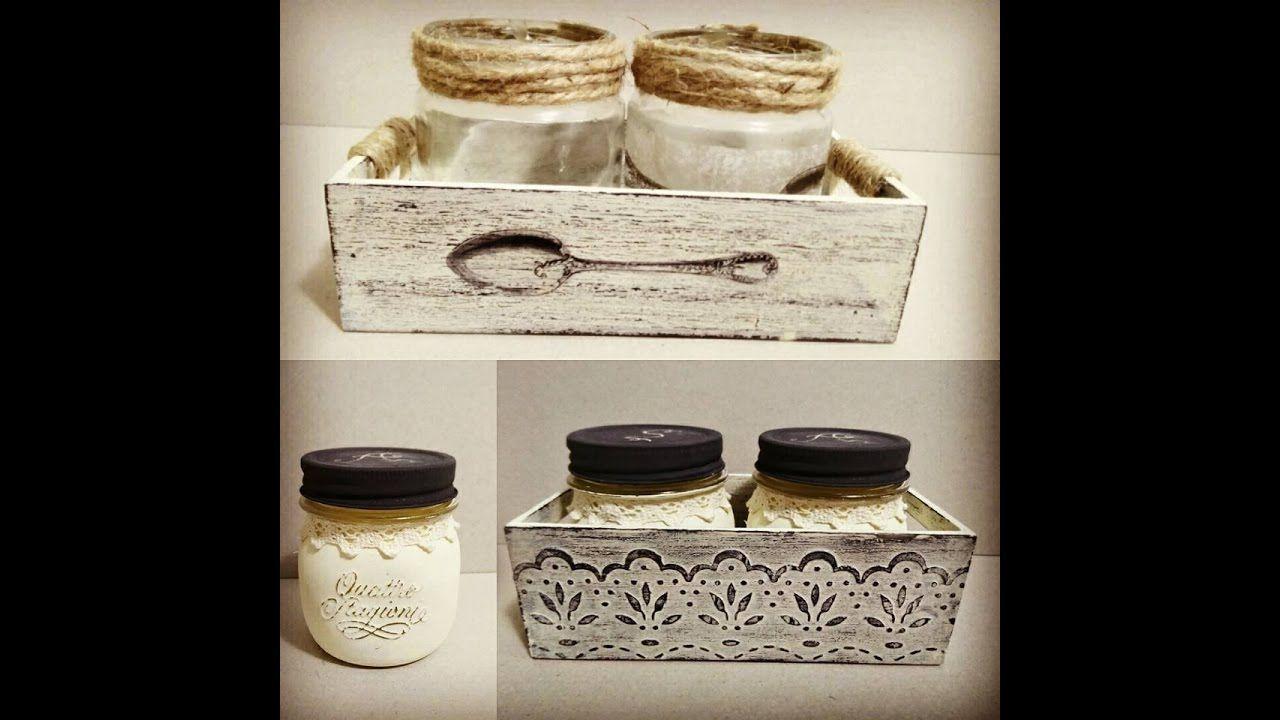Tarros de cristal y cajas de madera decorados for Tarros de cristal vintage