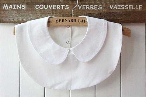 Fashion High Quality Styles Women Fake Collar False Chocker Lace Detachable Peter Pan Shirt Lapel E5487a