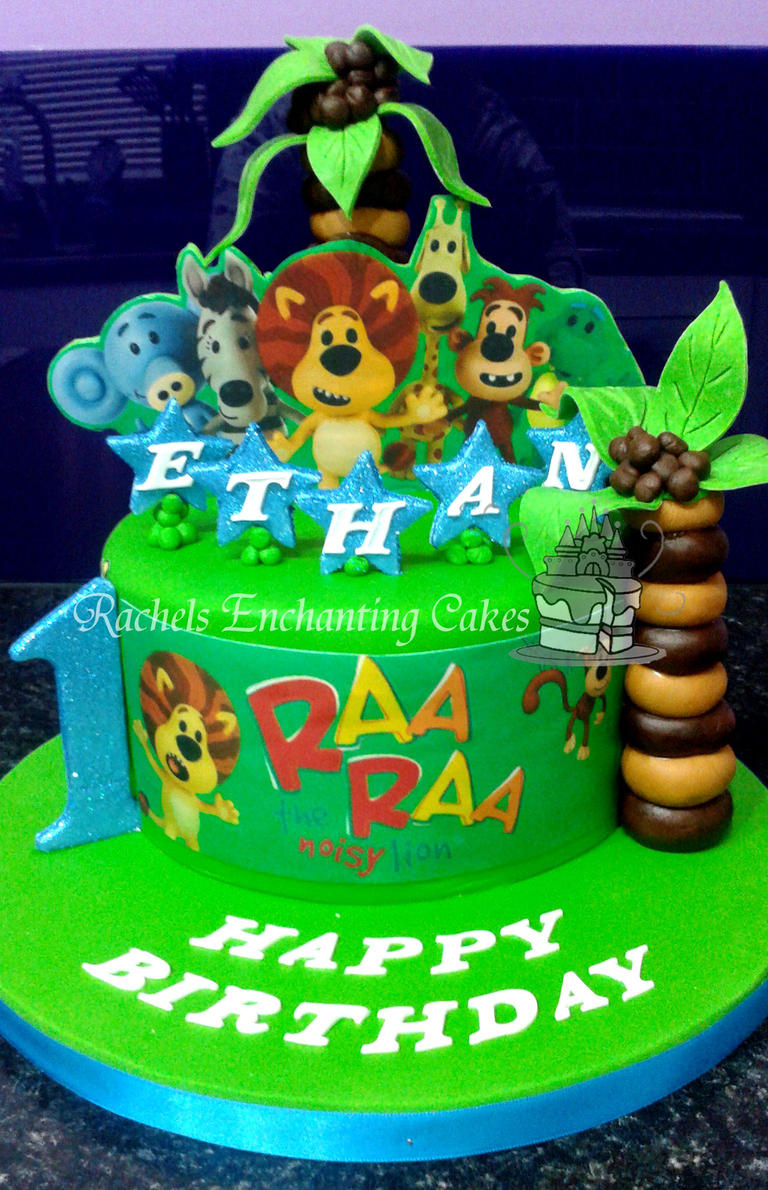 Raa Raa the Noisy Lion Themed cake ! By Rachels Enchanting Cakes