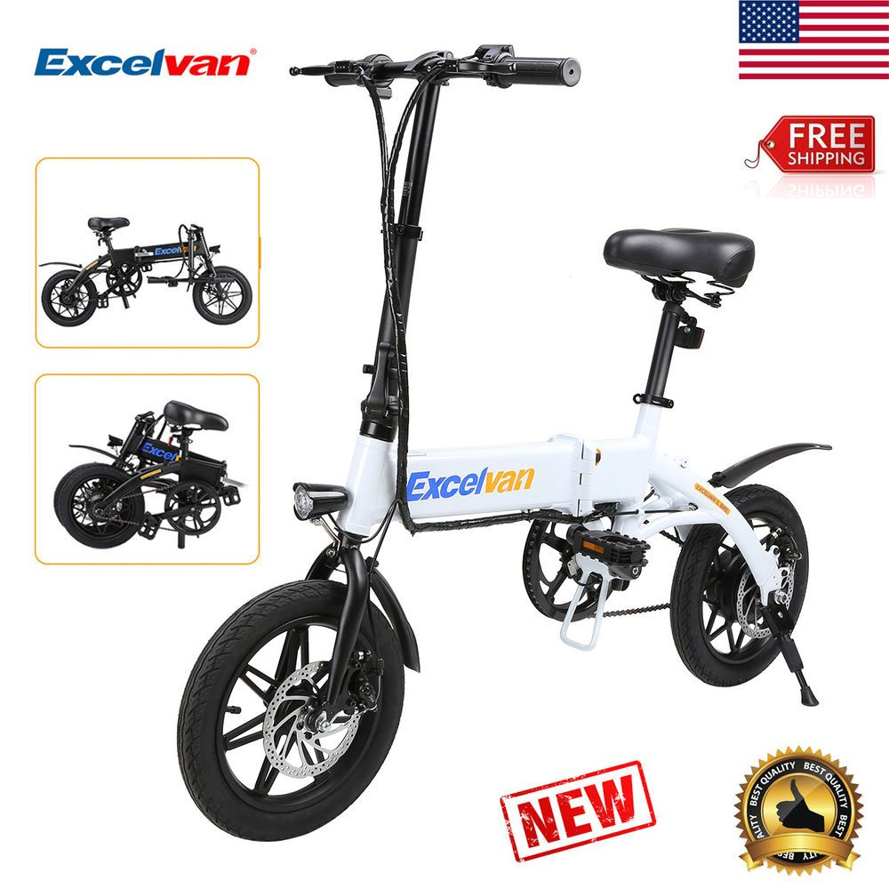 Folding 250W Electric e-Bike Moped Bicycle Collapsible LED Headlight USB 25km//h