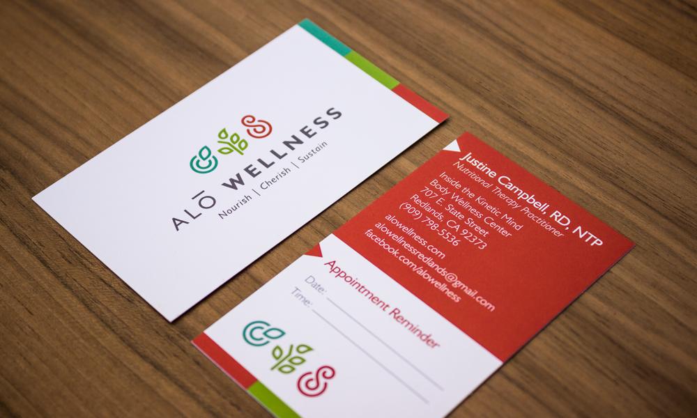 Daniel Gill Alo Wellness Branding Personal Cards Branding Web Design