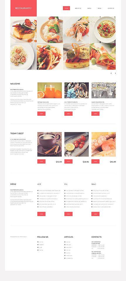 35 free elegant website templates (Free download) All website - a la carte menu template