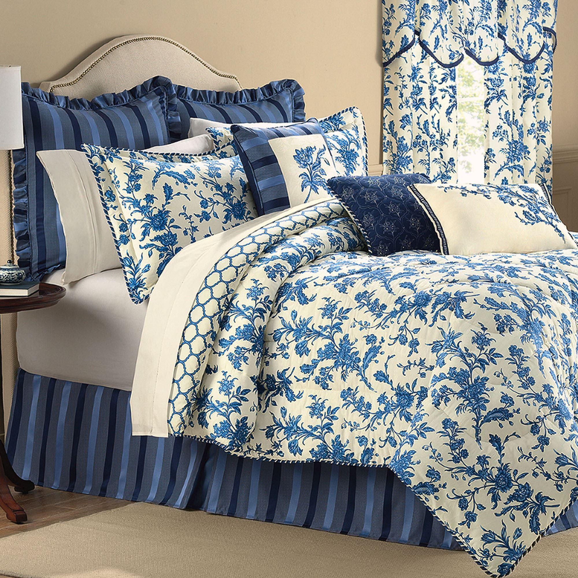 Spring Flowers Full Comforter Set Bedding Подушки
