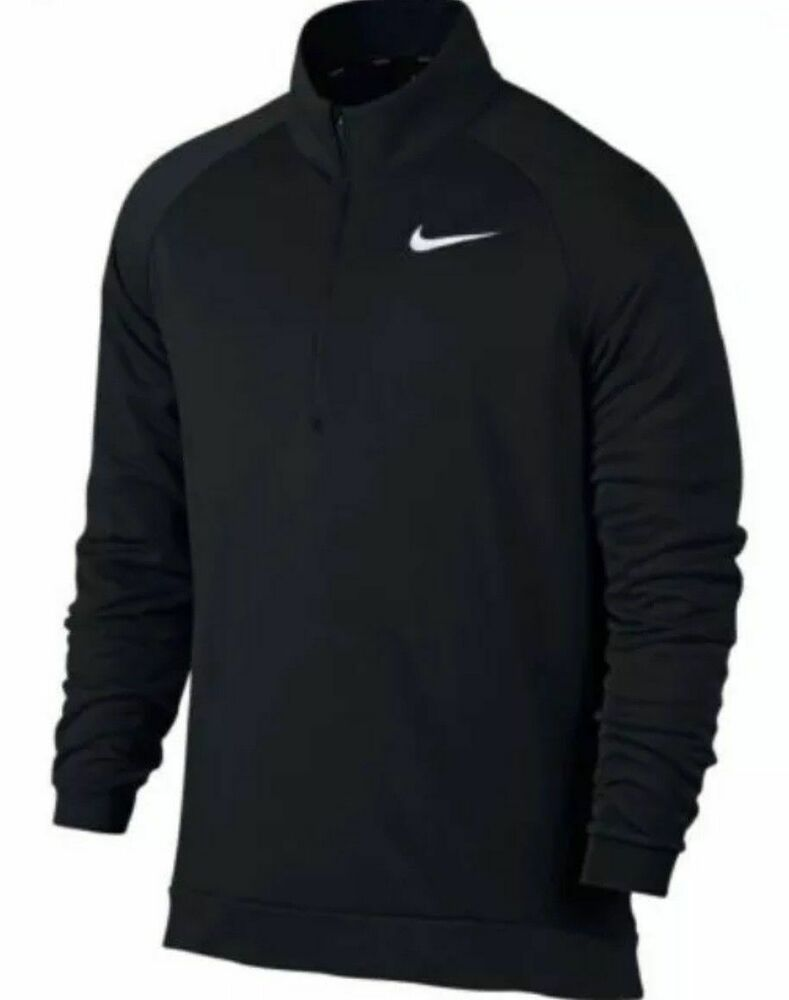 287e4a0d6a8e Nike Men s Dry Dri Fit 1 4 Zip Long Sleeve Training Shirt 860477 010 Black  Small  Nike