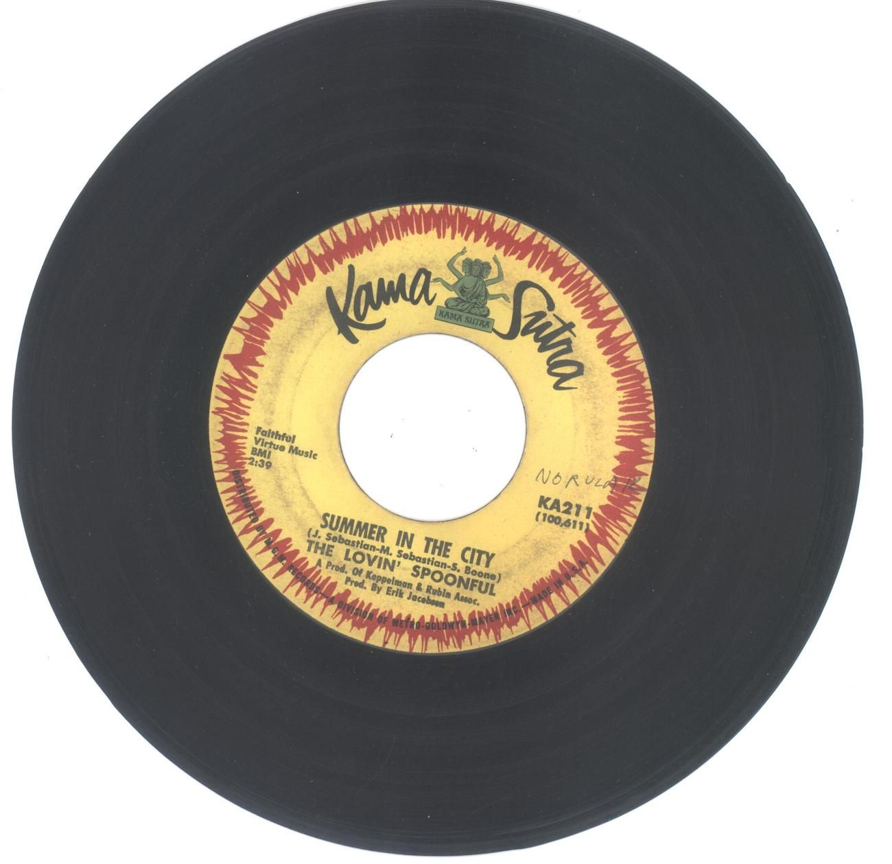The Lovin Spoonful 45 Rpm Summer In The City Music Memories The Lovin Spoonful My Childhood Memories